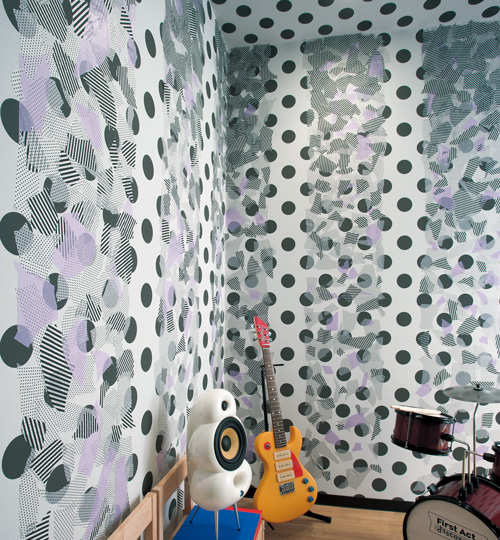 decoracion pared con washi tape