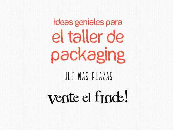 taller de packaging