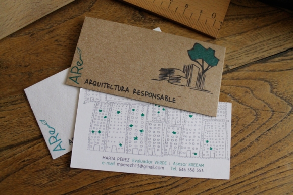 tarjetas de visista de cartón