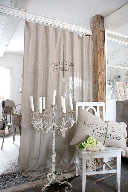 decoracion tela de saco