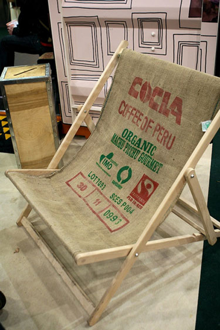 silla tela de saco