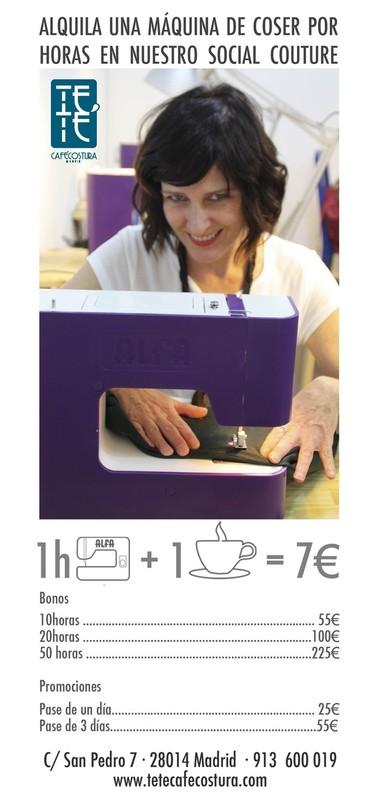alquiler maquina de coser