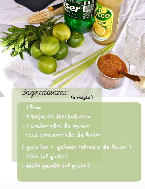 receta mojitos