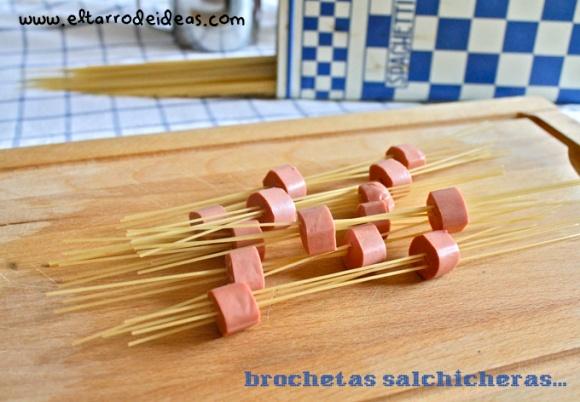 salchicha con pasta