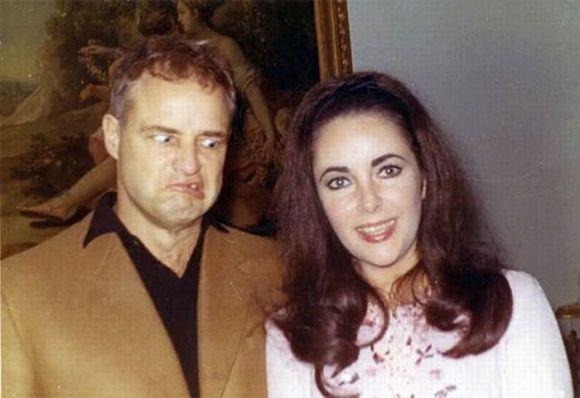 Marlon Brando y Liz Taylor