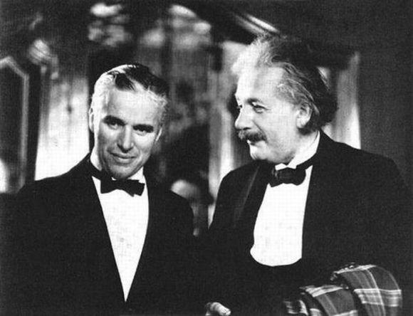 Charles Chaplin y Einstein