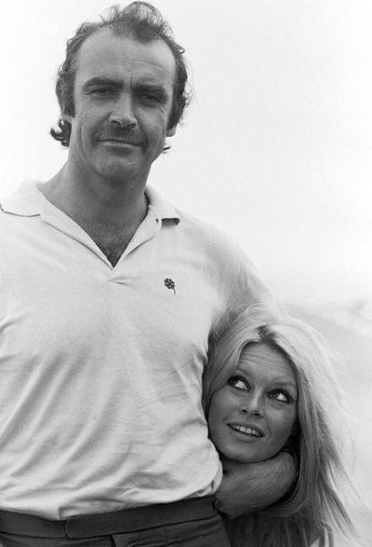 Brigitte Bardot y Sean Cornery