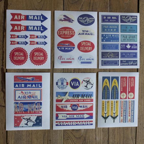 pegatinas de correos