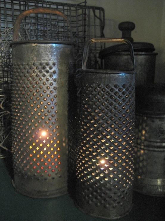 candelabros reciclados