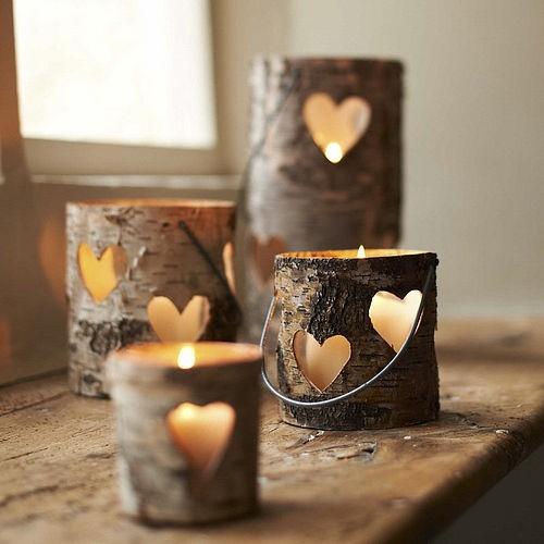 velas de madera