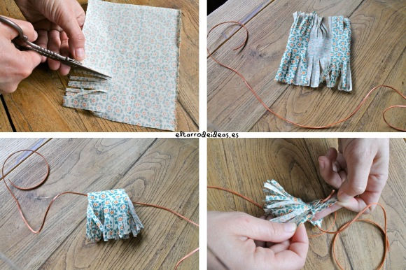 tutorial collares con tela
