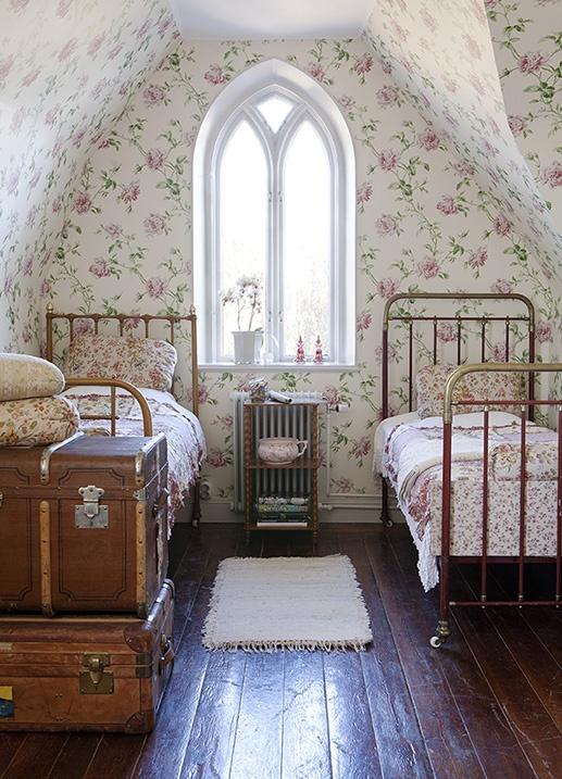 dormitorio de flores