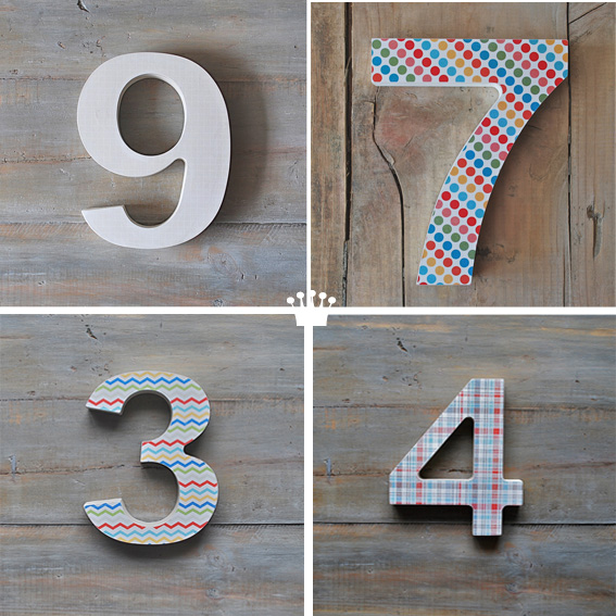 numeros decorativos