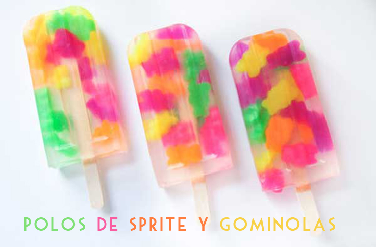 helados con gominolas