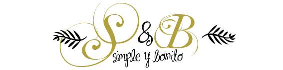 simple y bonito
