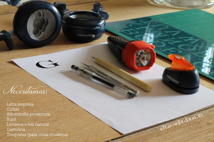 materiales letras relieve