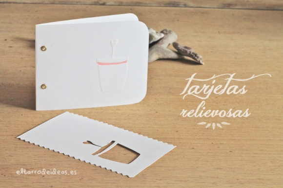 tarjetas en relieve