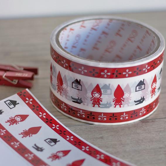 washi tape caperucita roja