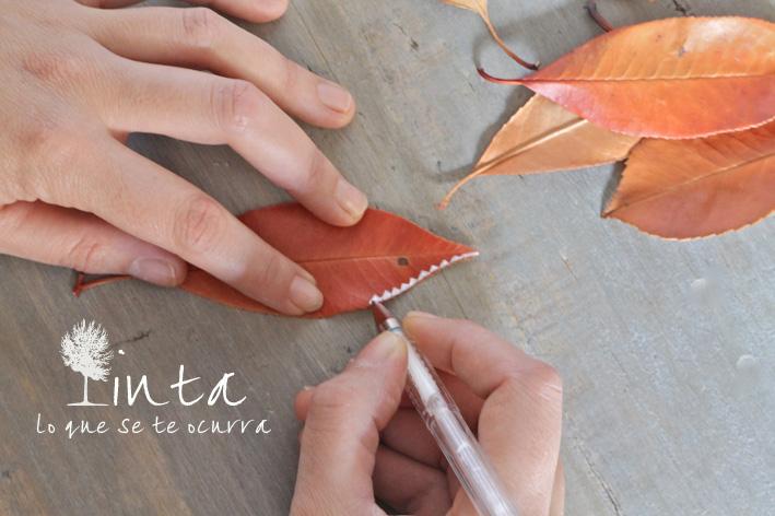 decoracion hojas tutorial relajación creatividad