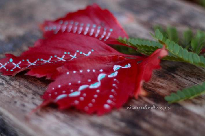 hojas decoradas