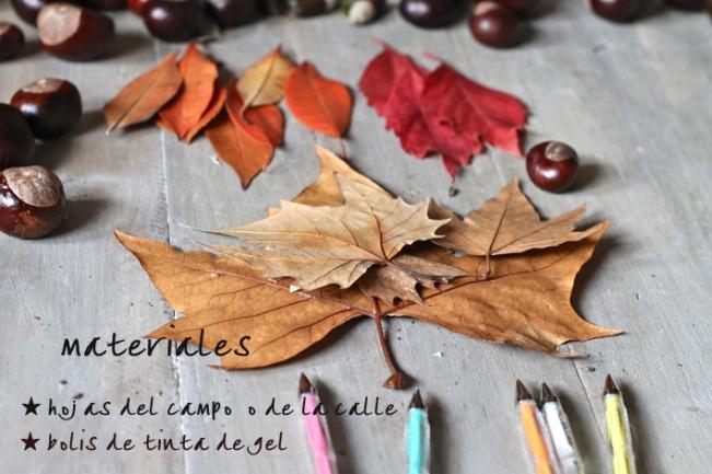 tutorial tarjetas hojas diy otoño hazlo tu mismo