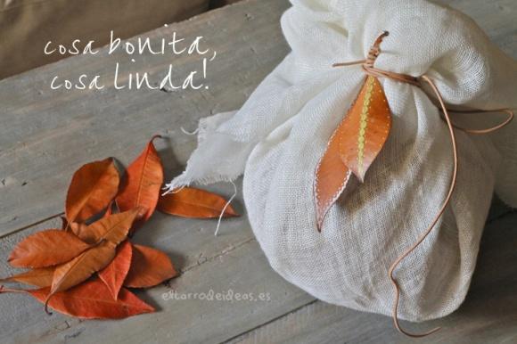 decoracion con hojas