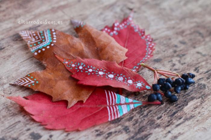hojas secas etiquetas regalos manualidades diy tutorial
