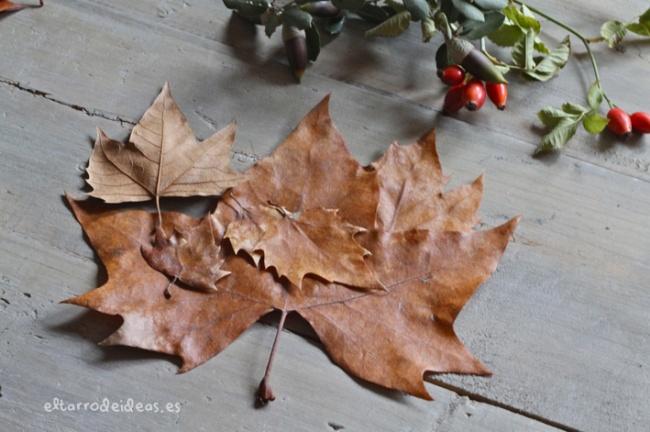 hojas secas, etiquetas, diy, hazlo tu mismo, manualidades