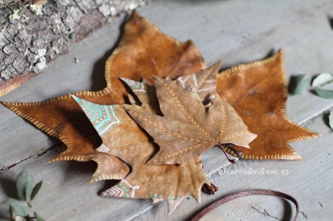 hojitas etiquetas, manualidades, creatividad, creativo, otoño, diversion con niños
