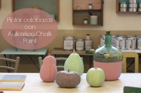 Pintar calabazas Chalk Paint